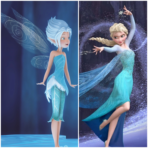 Periwinkle and Elsa have some similarities in design.