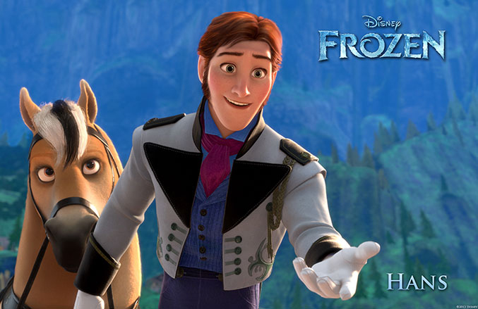 Prince Hans, a bad guy, who you don't want to be bad.