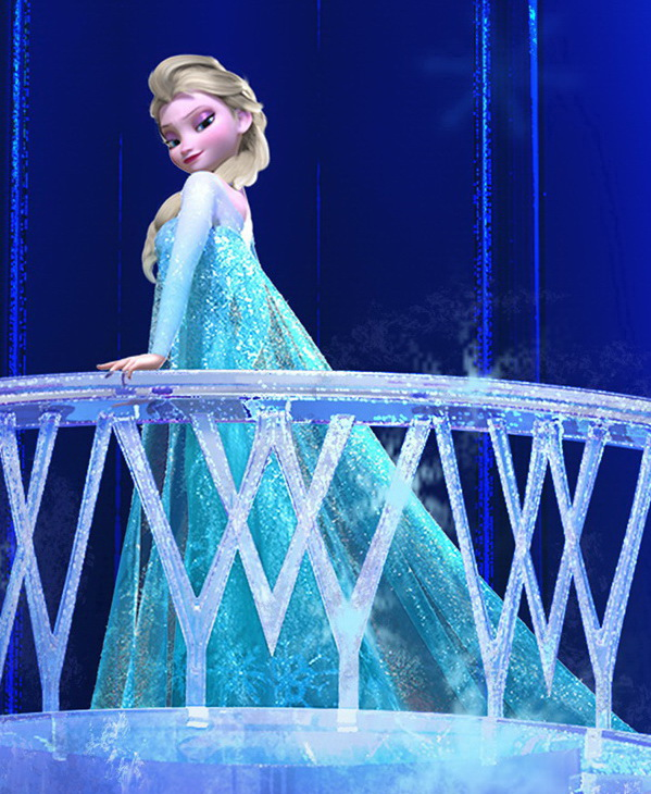 Elsa in her ice palace.
