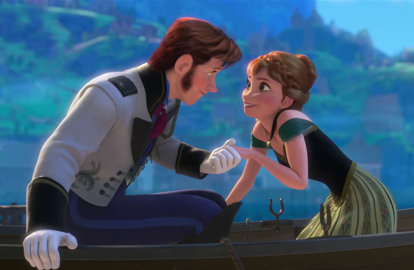 Here's where Anna and Hans meet in the film