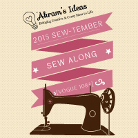 Akram's Ideas 2015 Sew-tember Sew Along – Vogue 1083
