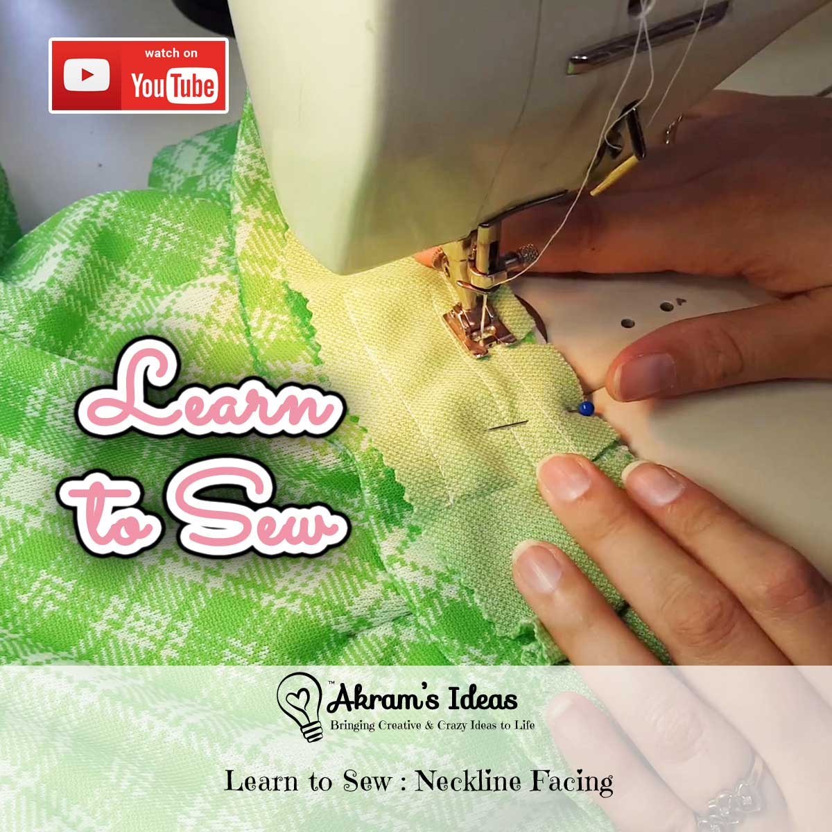 Learn how to insert a traditional neckline facing around the neckline of a garment.