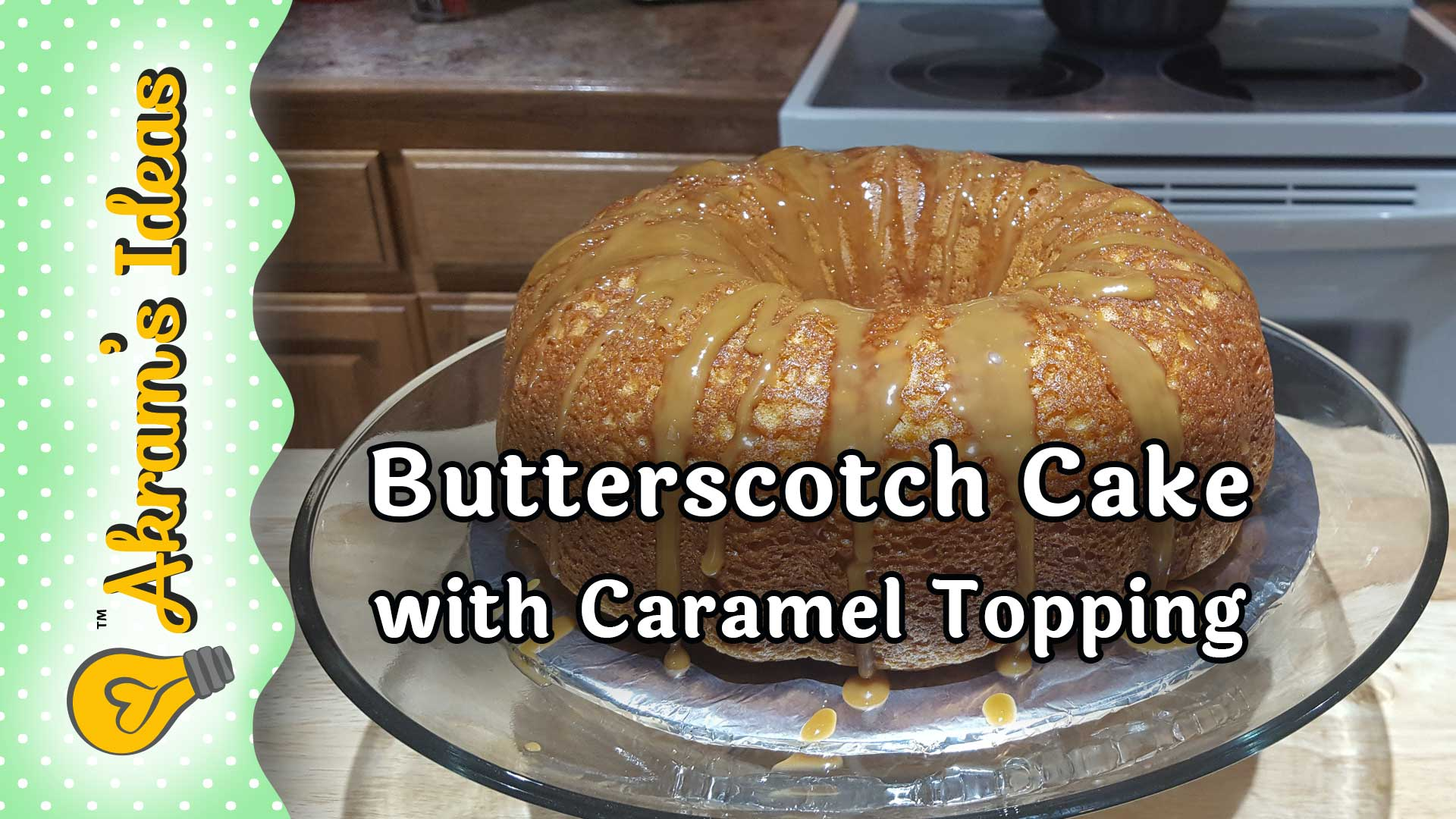 Just in time for the holidays a recipe for incredibly moist butterscotch cake using butterscotch soda and topped with a caramel topping.
