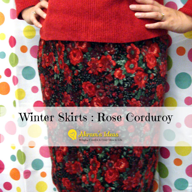 Akram's Ideas: Winter Skirt - Rose Corduroy
