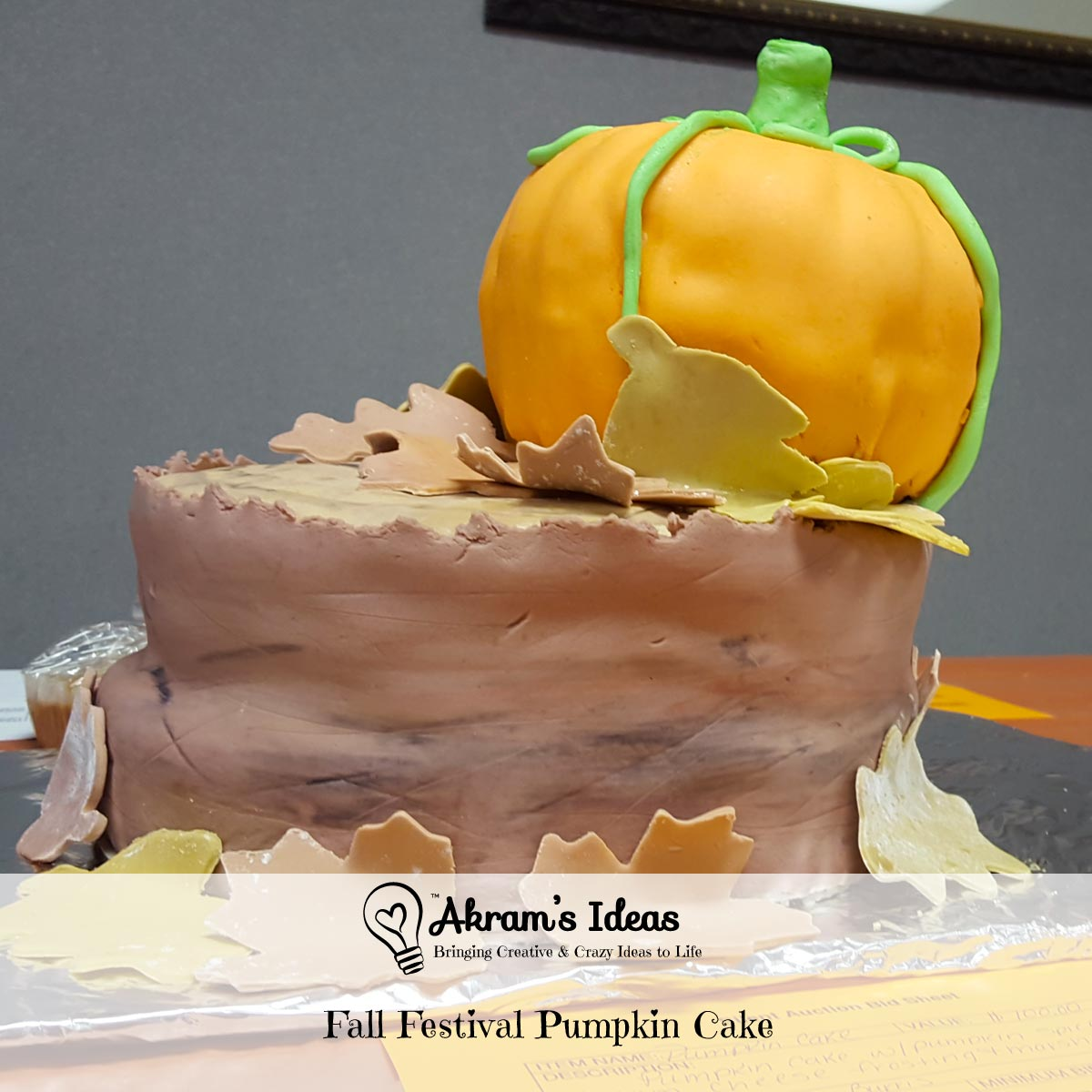 Akram's Ideas : Fall Festival Pumpkin Cake