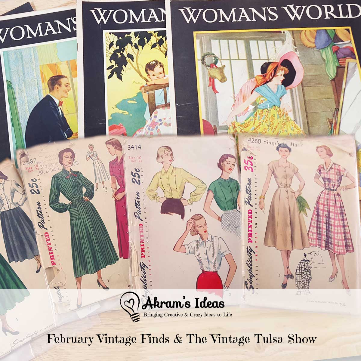 Akram's Ideas: February Vintage Finds & The Vintage Tulsa Show