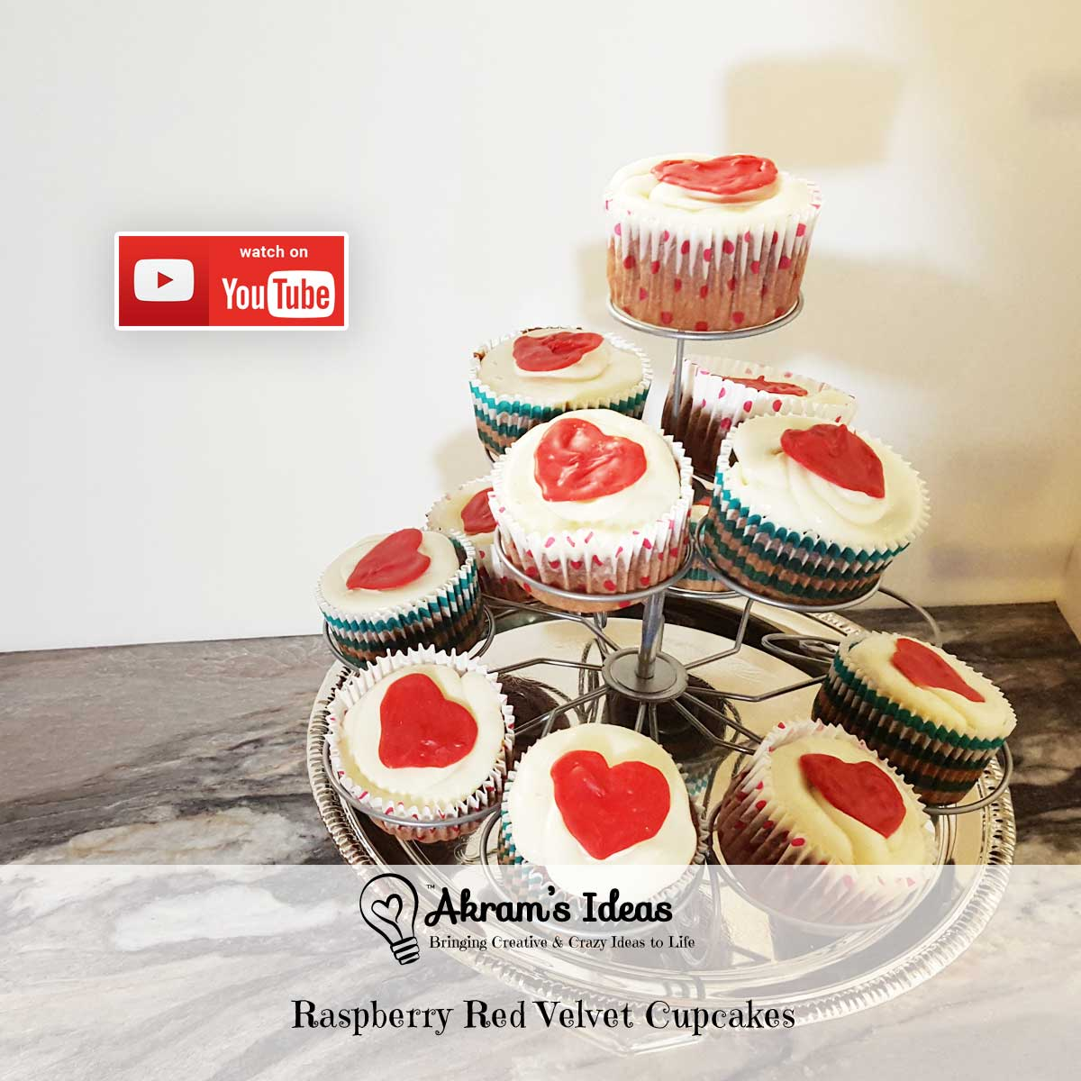 Akram's Ideas: Raspberry Red Velvet Cupcakes