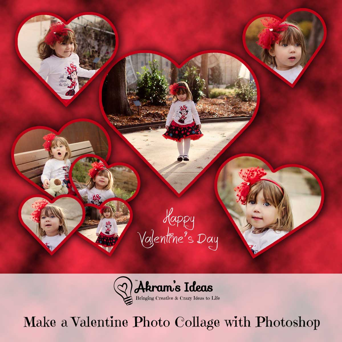 Akram's Ideas: Make a Valentine Photo Collage with Photoshop