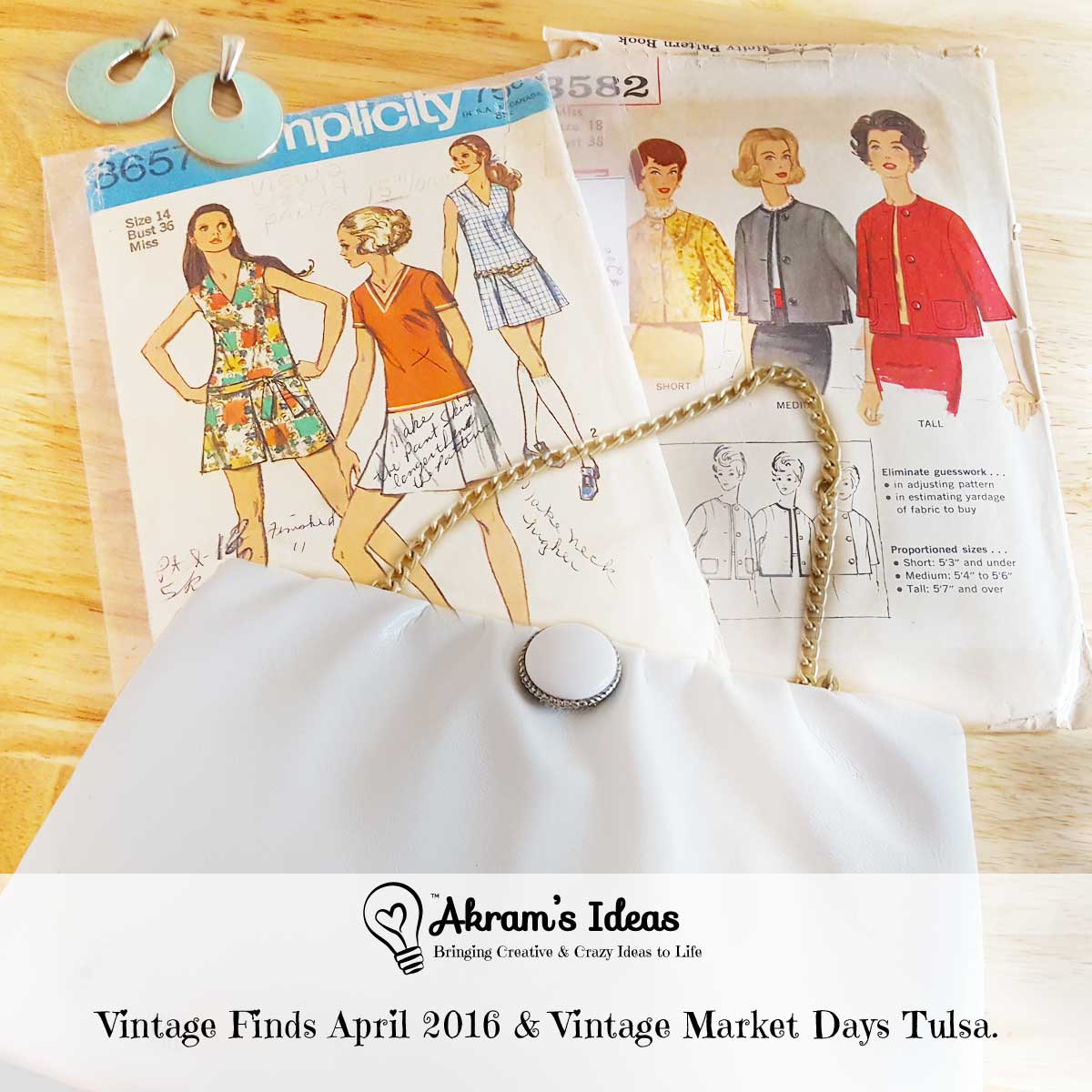 A review of my vintage finds for April and a quick montage of the Vintage Tulsa Market.