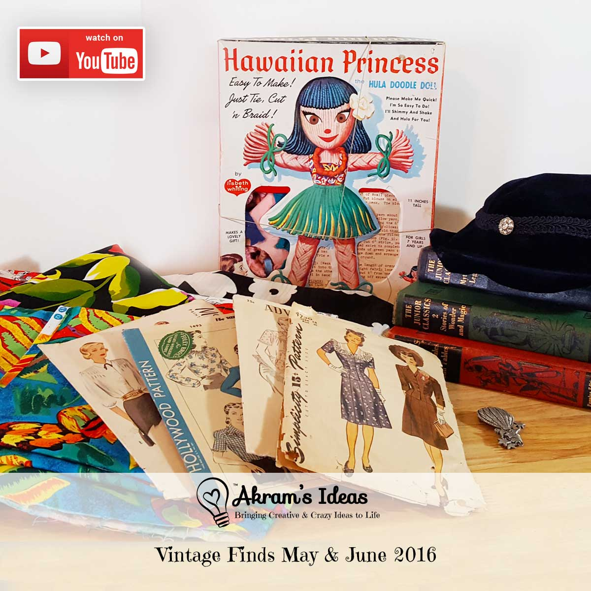 A video review of my latest vintage finds (haul) for May & June 2016.