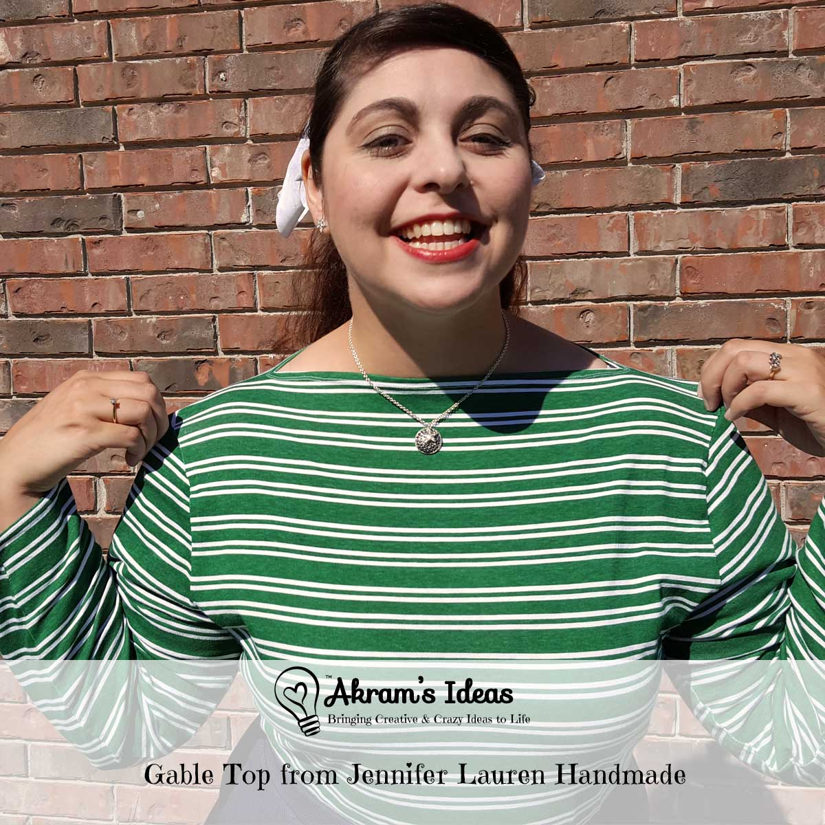 Review of the Gable Top pattern from Jennifer Lauren Handmade, featuring a 50s-inspired true slash neckline, a long-line body and three sleeve options.