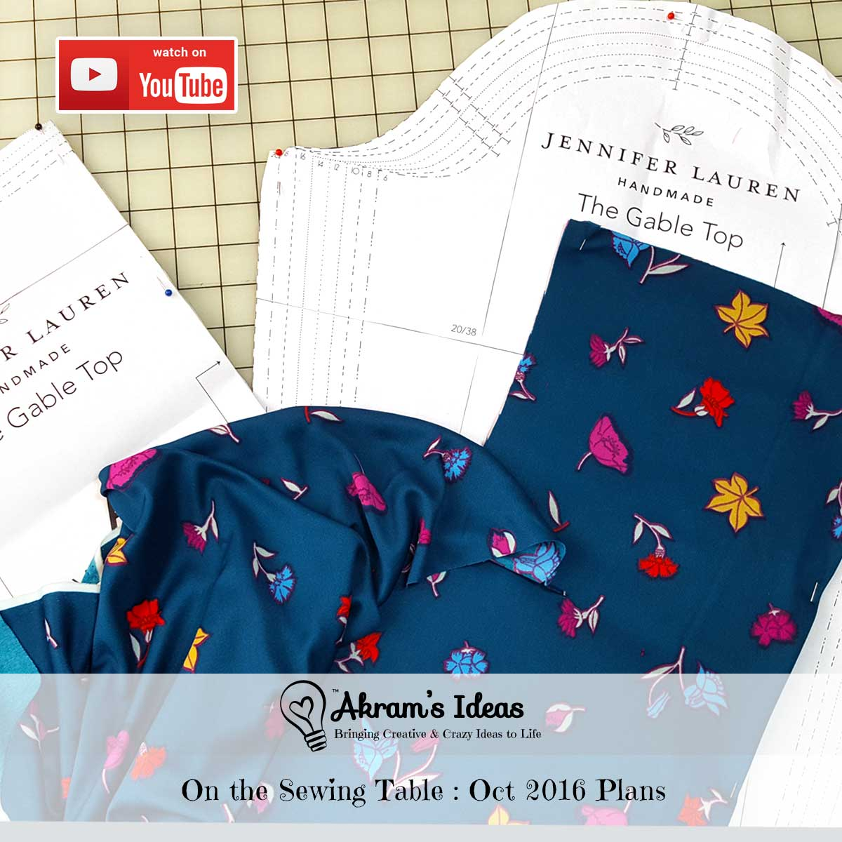 See what's on my sewing table in the latest episode (video) of Akram's Ideas, where I share my October 2016 sewing plans.