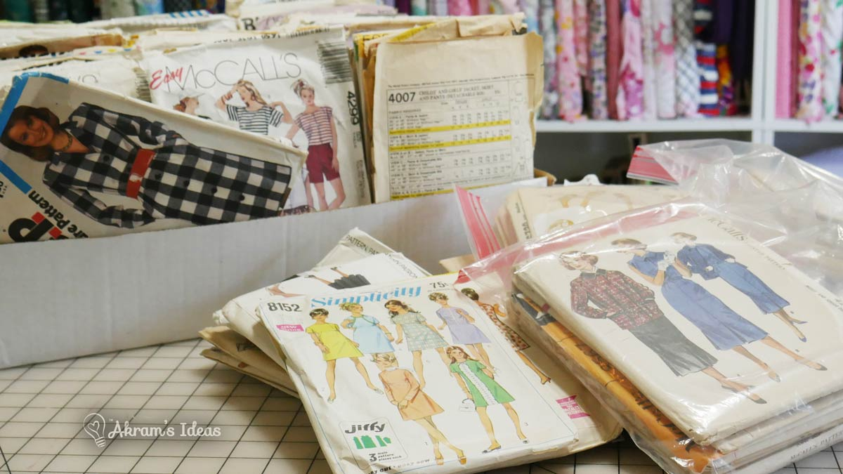 More fave finds from over the last few months, this time I'm sharing all the vintage patterns I picked up, dating from the 1950s thru to the 1990s.